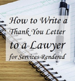 How To Write A Thank You Letter To A Lawyer Holidappy