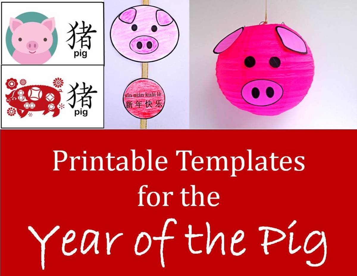 Easy Printable Projects For The Year Of The Pig Kid