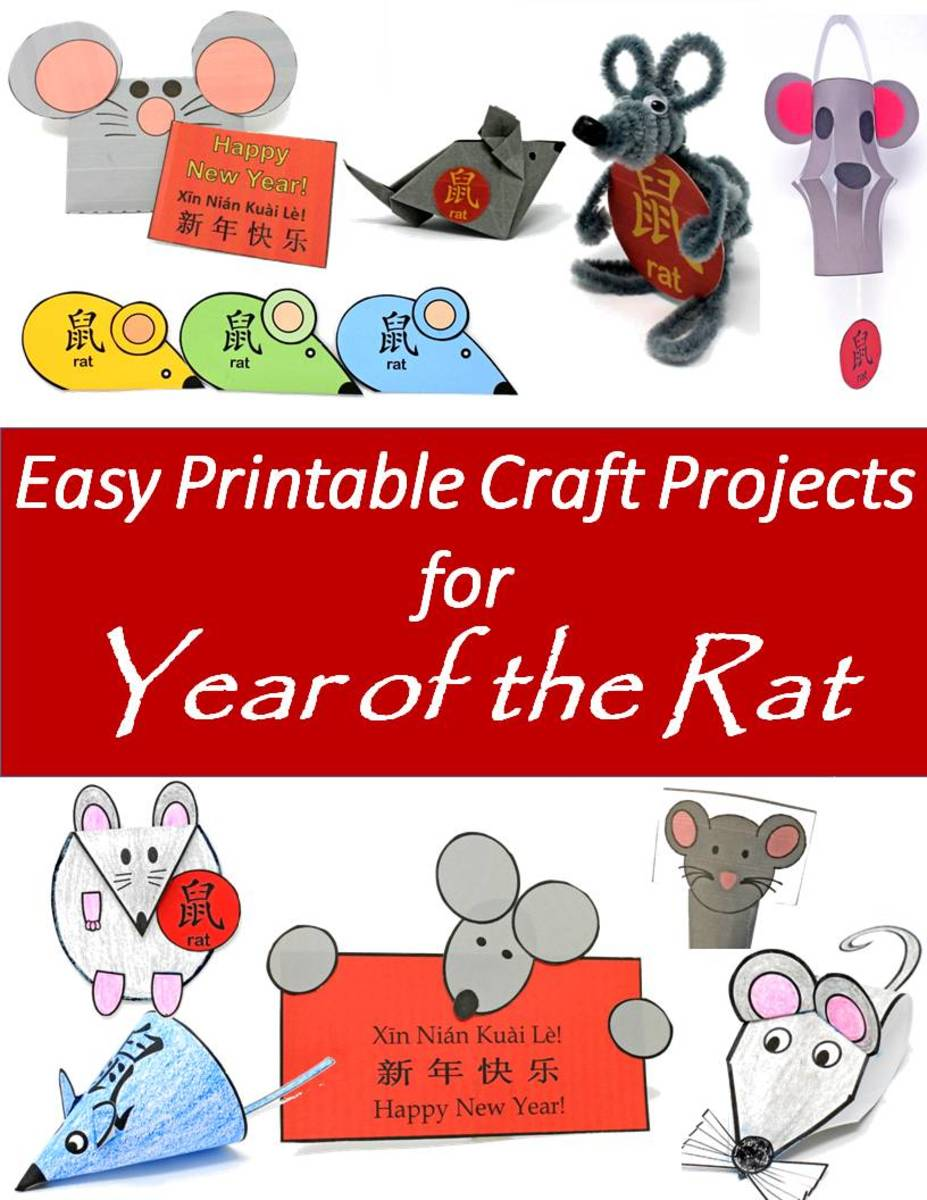 Printable Year Of The Rat Craft Projects For The Chinese