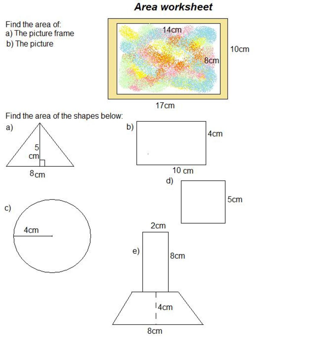How To Find Area Of Shapes And How To Find The Volume Of