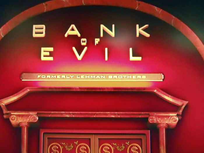 Image result for evil inc formerly lehman brothers