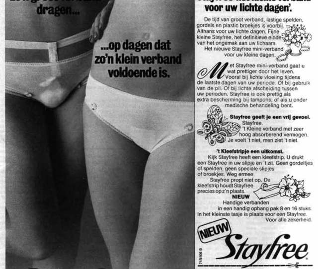 Stayfree Menstrual Panty Pad Ad The Netherlands 1972