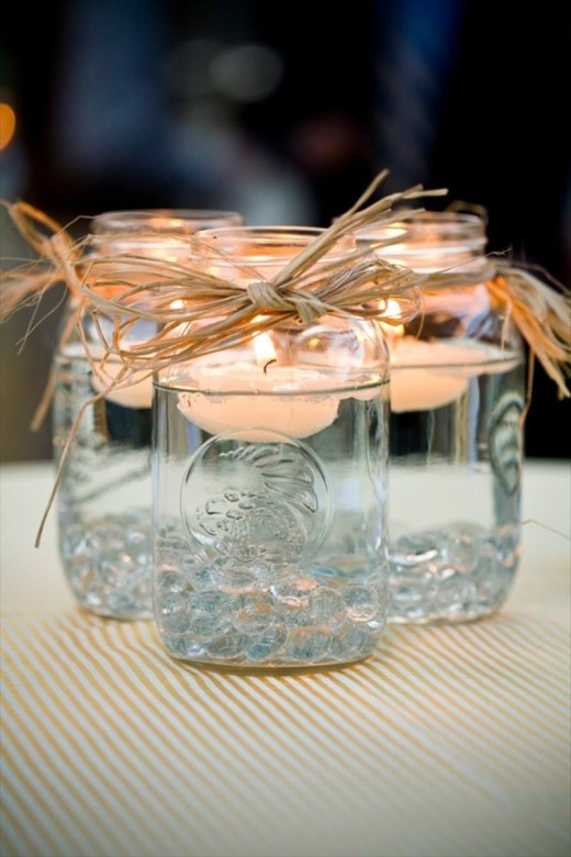 Wedding Mason Jar Centerpieces