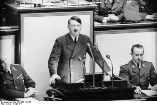 Hitler speaking in Germany, 1941
