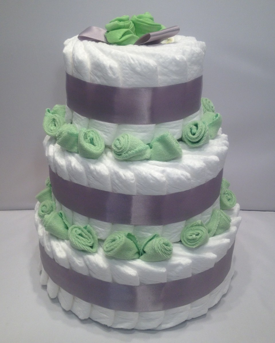 How To Make Diaper Cakes With Decorating Tips