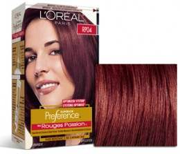 LOreal Superior Preference RP04 RR04 Deep Intense Red