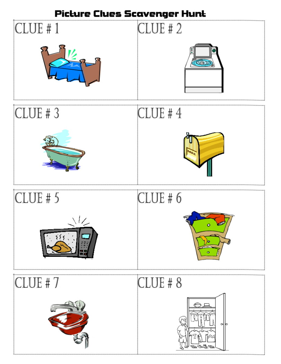 Printable Scavenger Hunt Clues For Kids