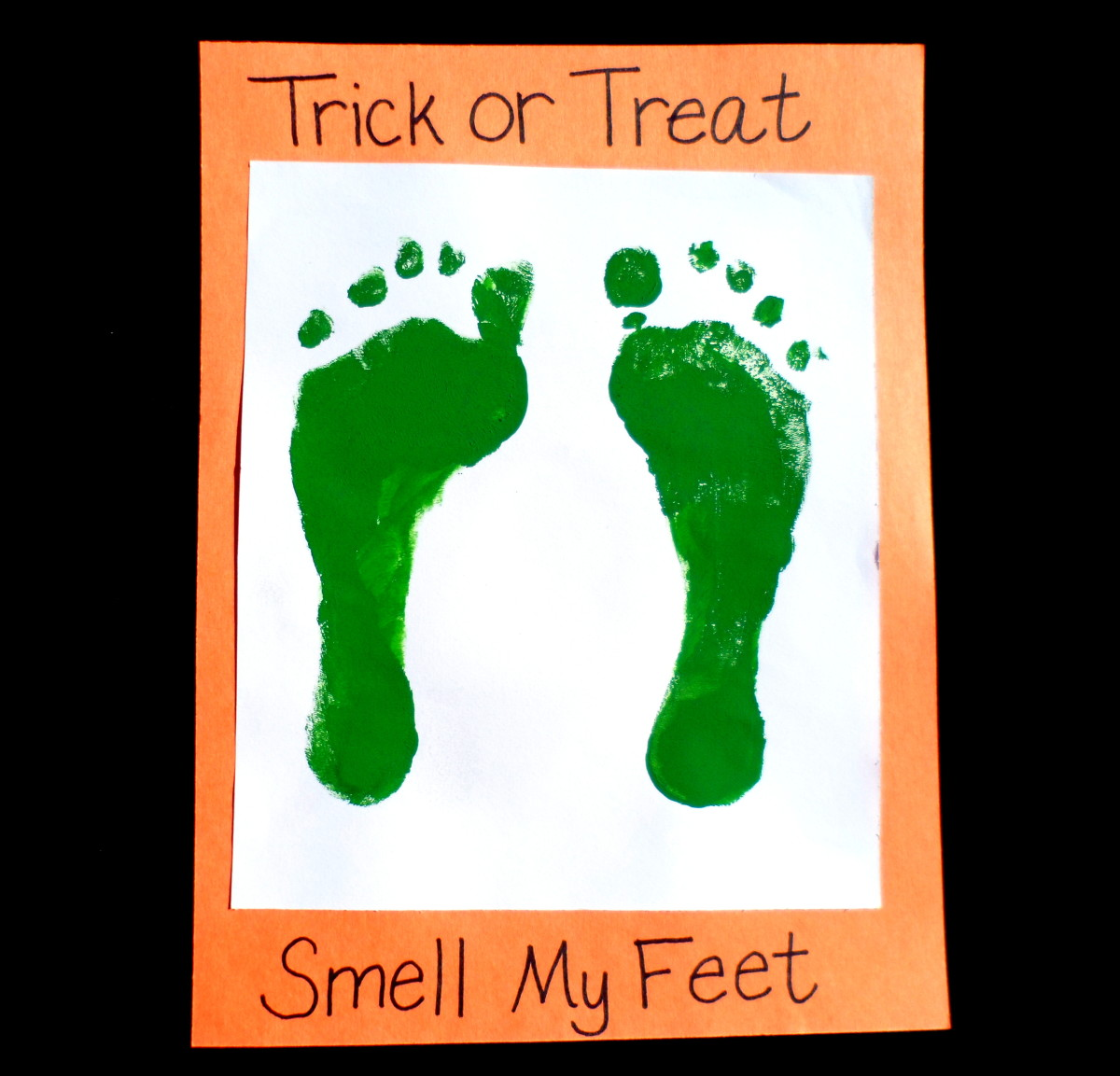 Easy Halloween Crafts Handprint And Footprint Art