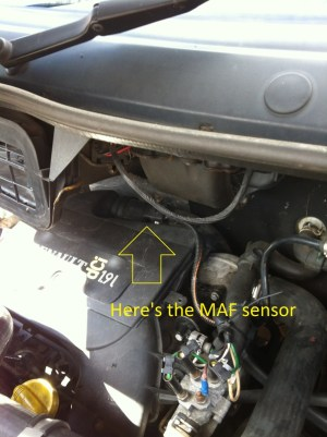 How to Clean  Change MAF Sensor on Trafic, Vivaro