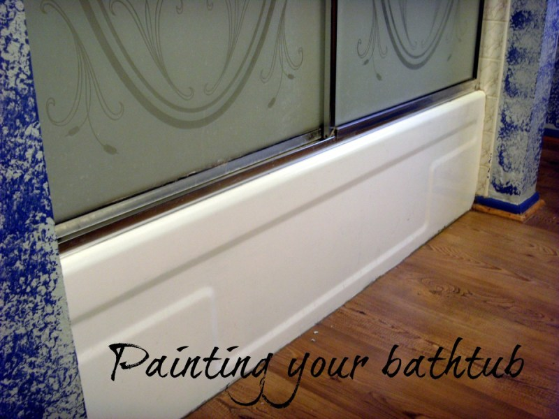 How to Refinish and Paint a Bathtub With Epoxy Paint   Dengarden Yes  you can paint a tub  This one used to be a 1970s avocado