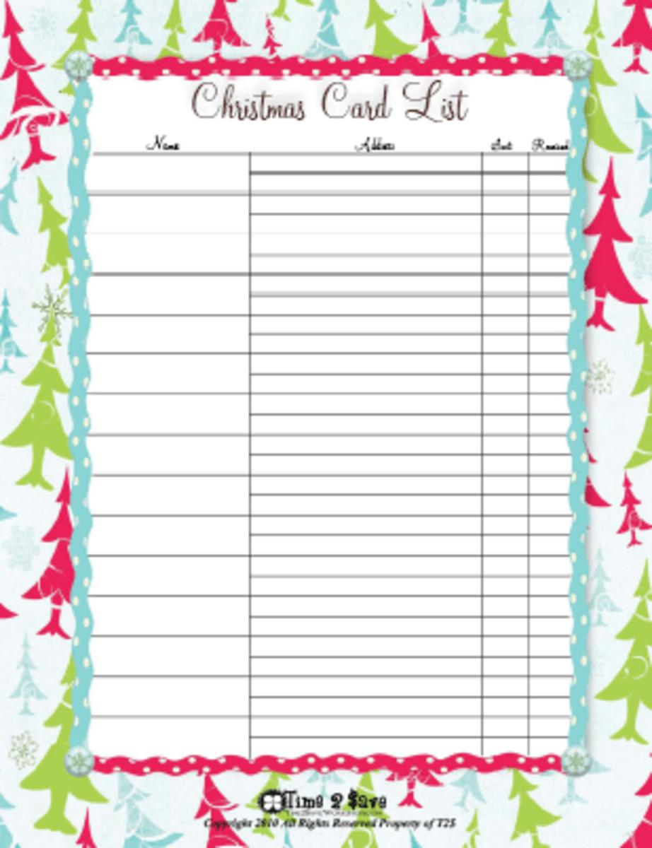 Christmas List Printables HubPages