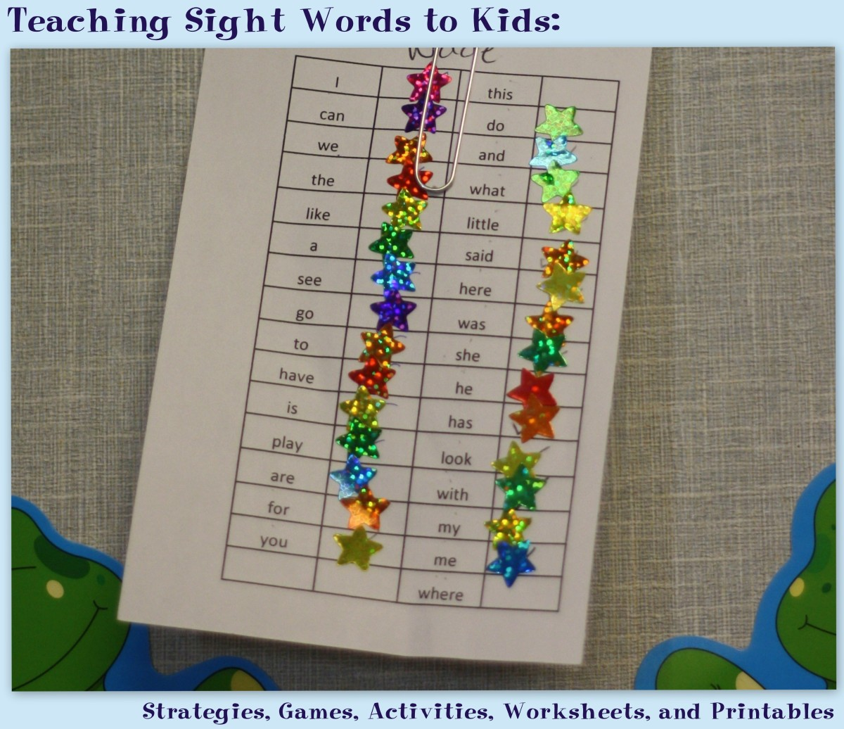 Teaching Sight Words To Kids Strategies Games