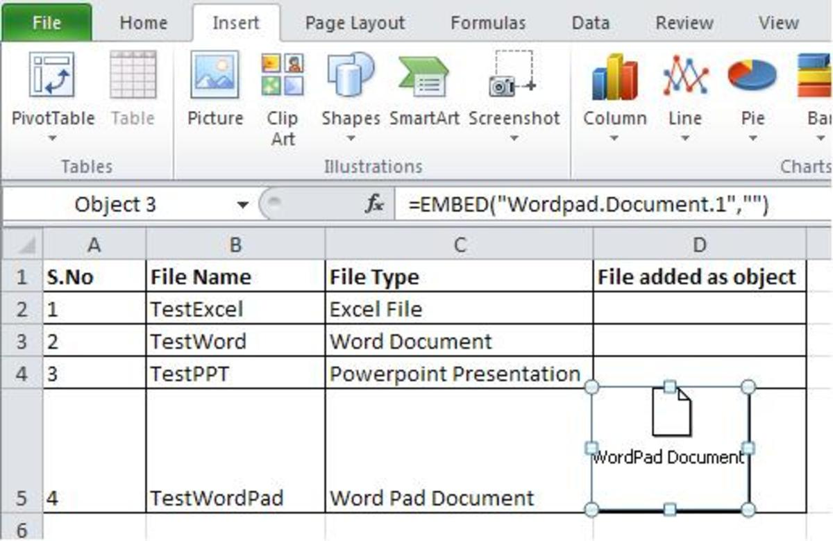 How To Embed A File As An Object In A Microsoft Excel