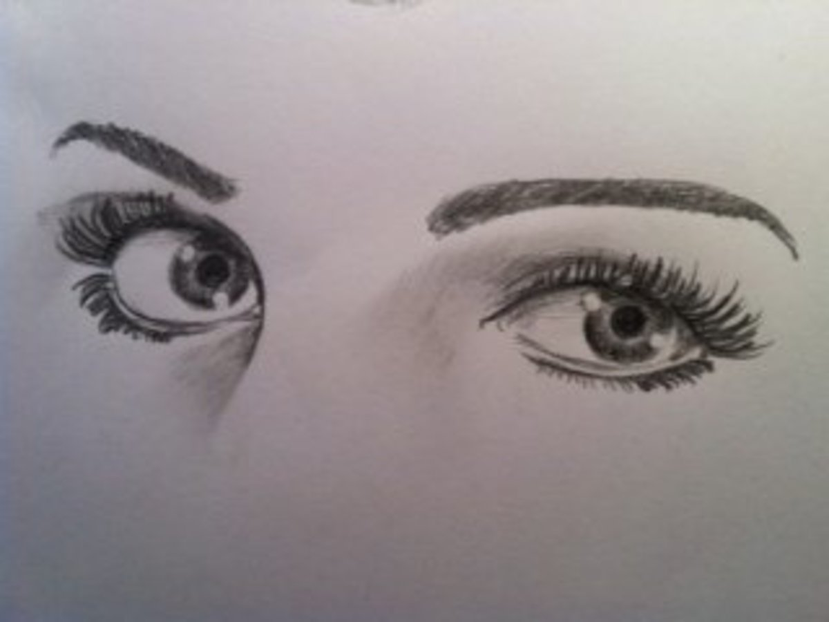 How To Draw Female Human Eyes