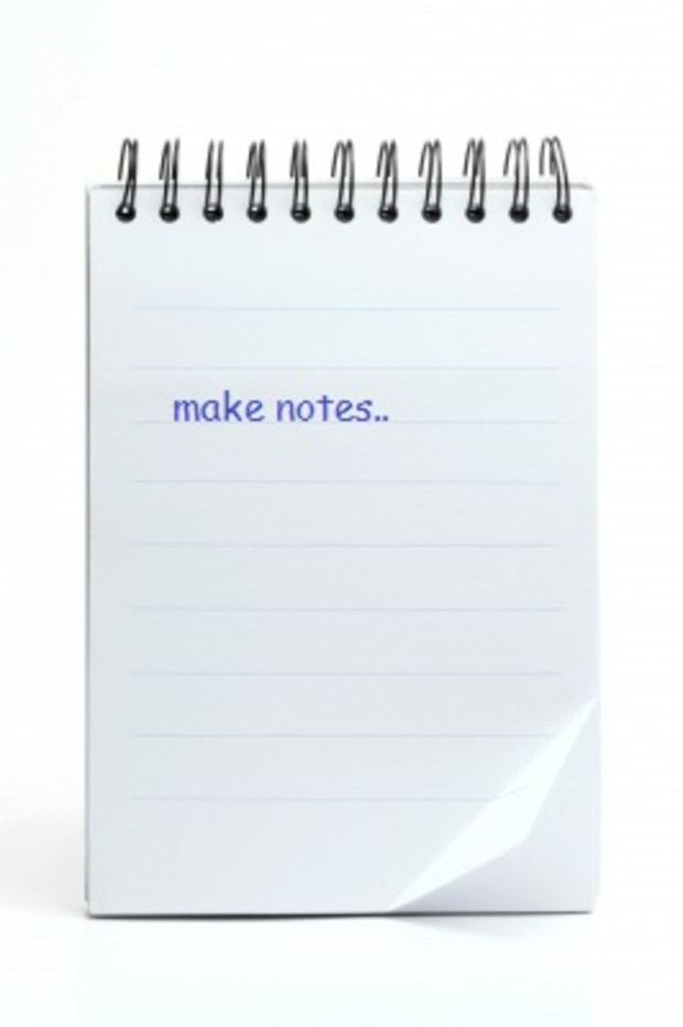 Scrible notes.