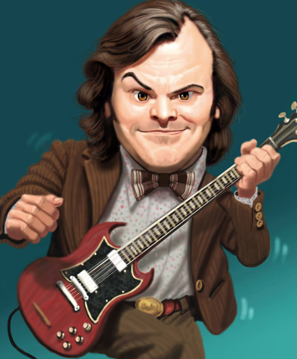 Jack Black with a Gibson SG
