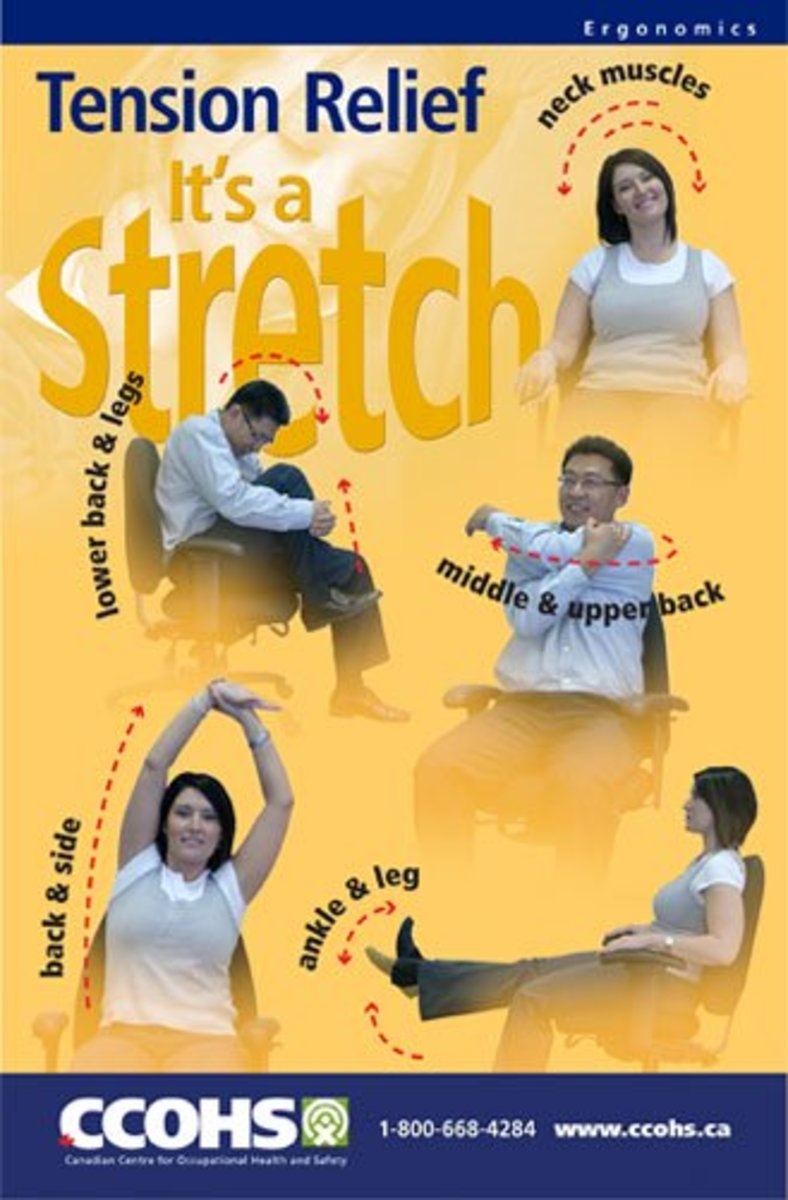 Workplace Safety Poster - Stretching Exercises
