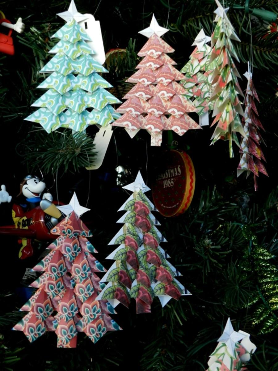 Tea Bag Folding Christmas Tree Pattern Holidappy