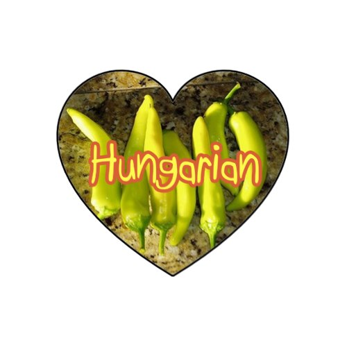 Hungarian pepper stickers