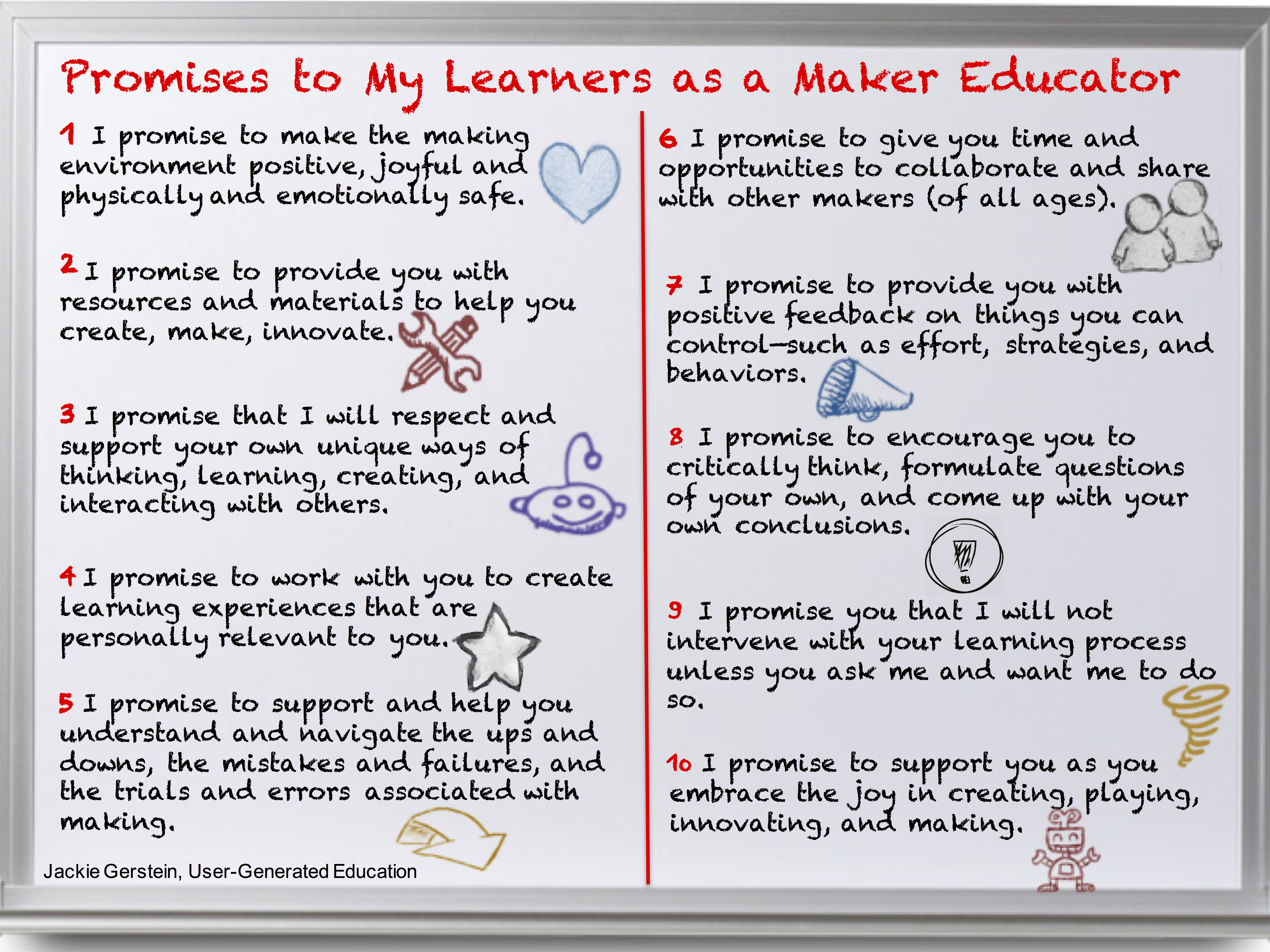 Promises To My Learners As A Maker Educator