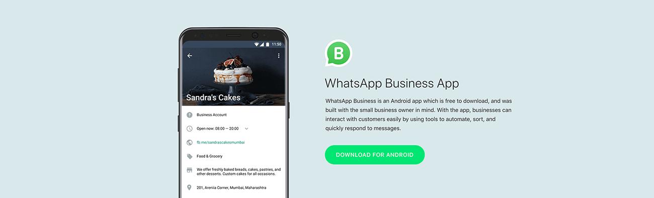 WhatsApp for Business App