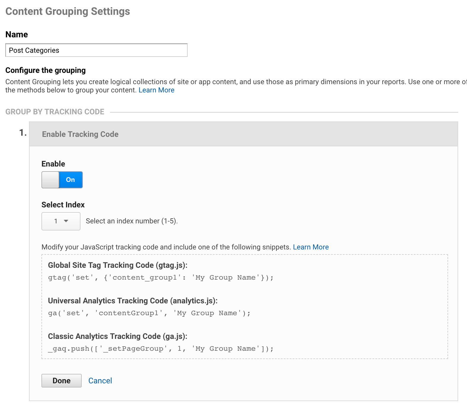 How to Create a new Content Group in Google Analytics