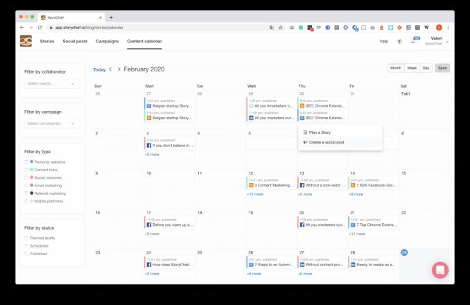 StoryChief - Content Calendar module