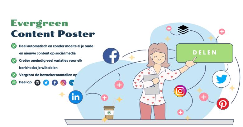Evergreen Content Poster – plan, deel en repost jouw beste content automatisch en onbeperkt op social media