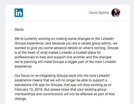 LinkedIn Groups at the heart of what makes LinkedIn a trusted place for professionals to help and support one another