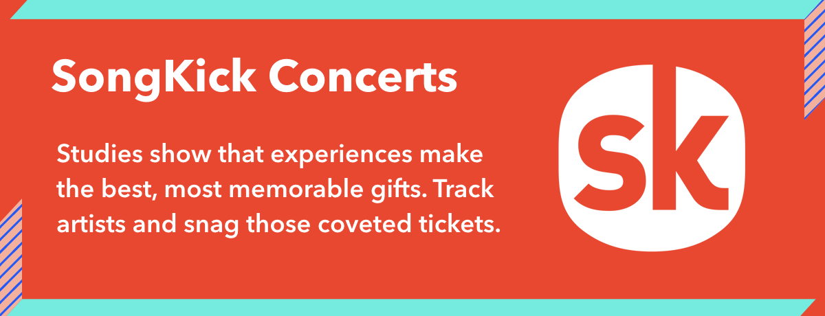 Songkick concerts are a perfect gift for a music guru