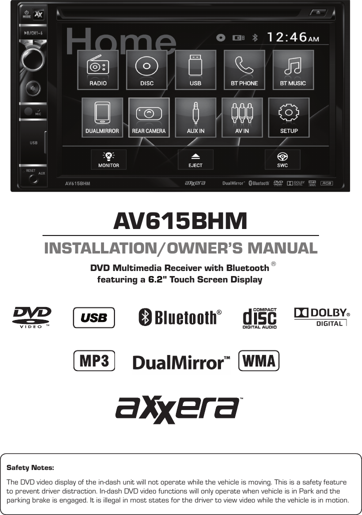 Axxera Av615bhm Installation And Users Guide User