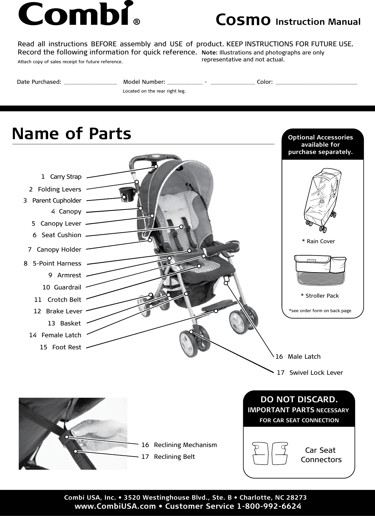 Combi Cosmo Owner S Manual