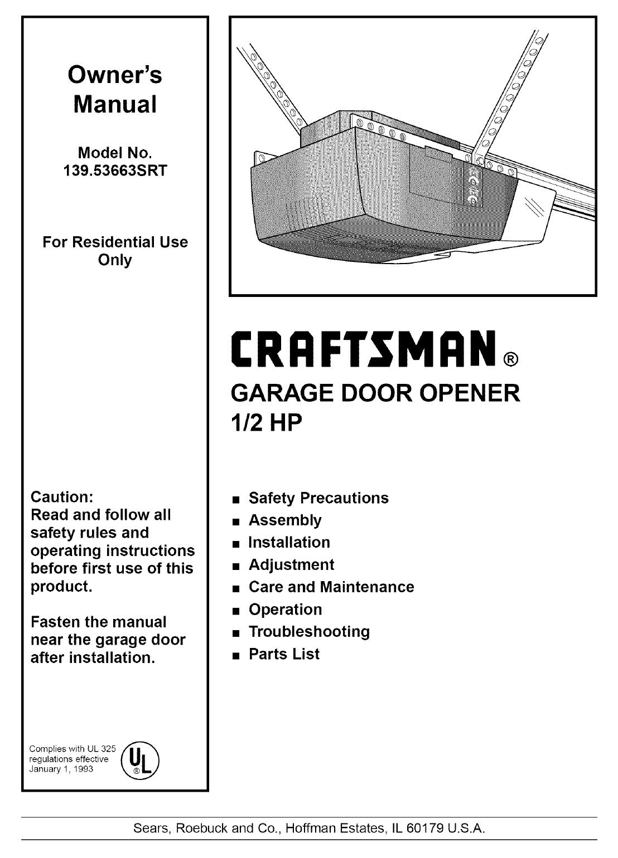 Craftsman 1 2 Hp Garage Door Opener Remote Troubleshooting