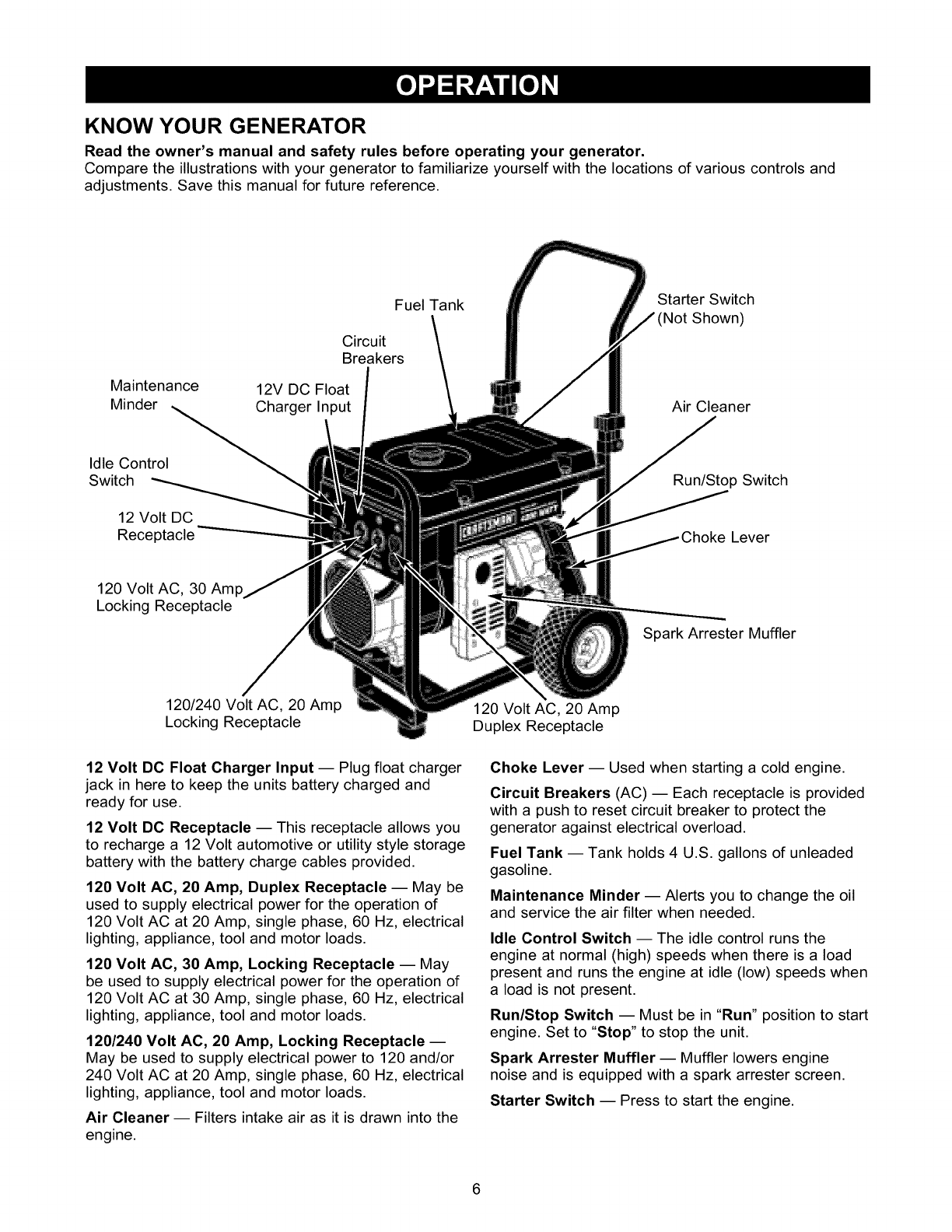 Craftsman User Manual Generator Manuals And