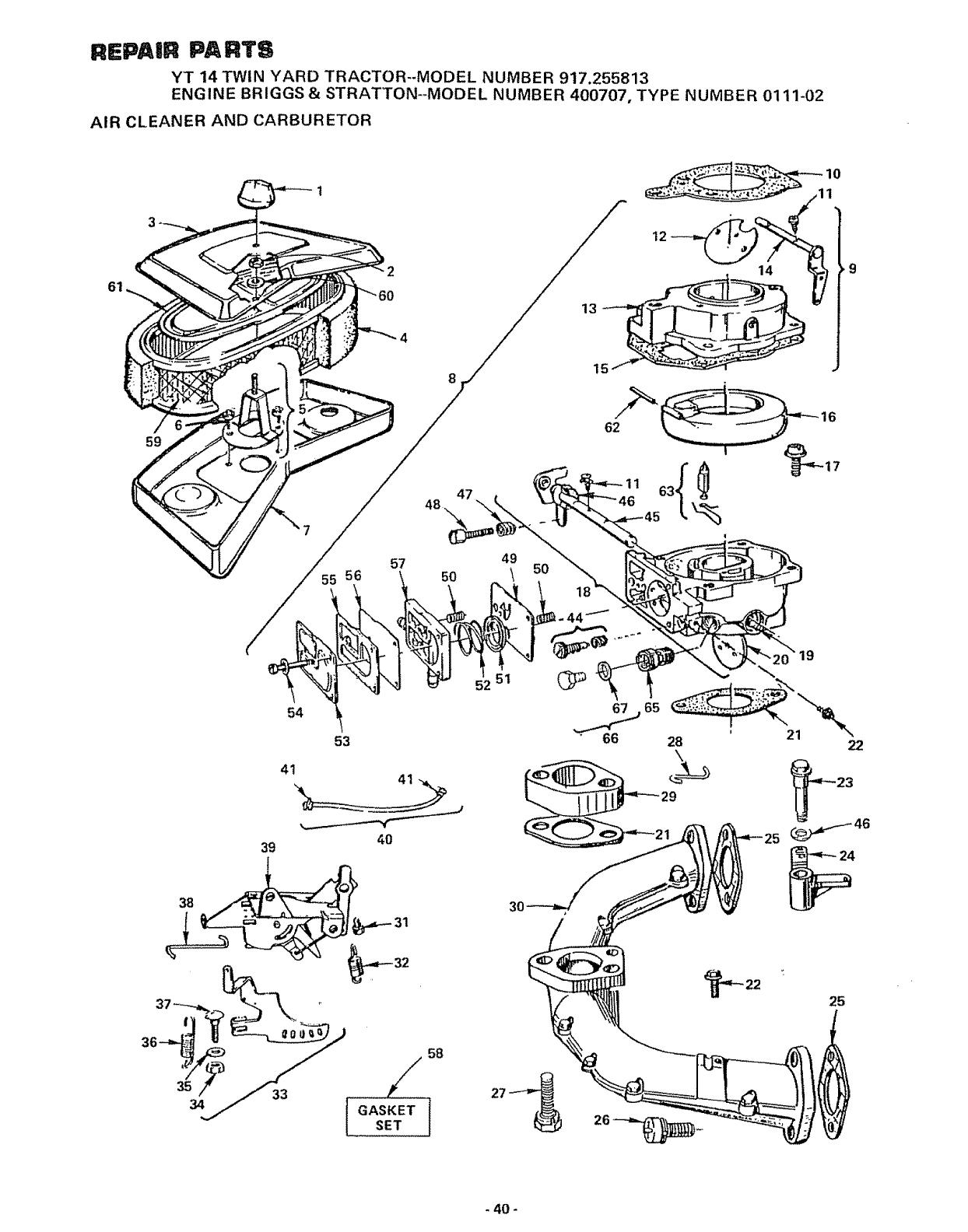 Craftsman User Manual Yt 14 Twin Yard Tractor