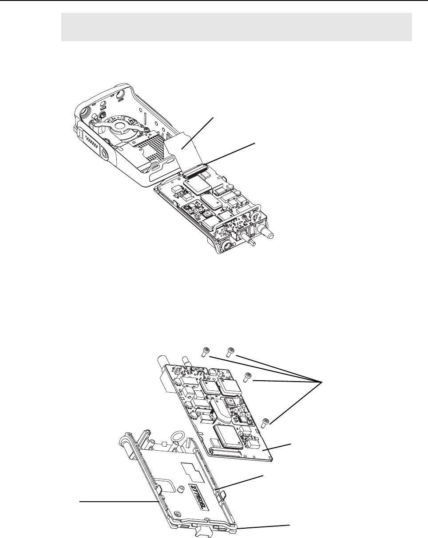 Gp344r gp644r radio disassembly detailed 3 15