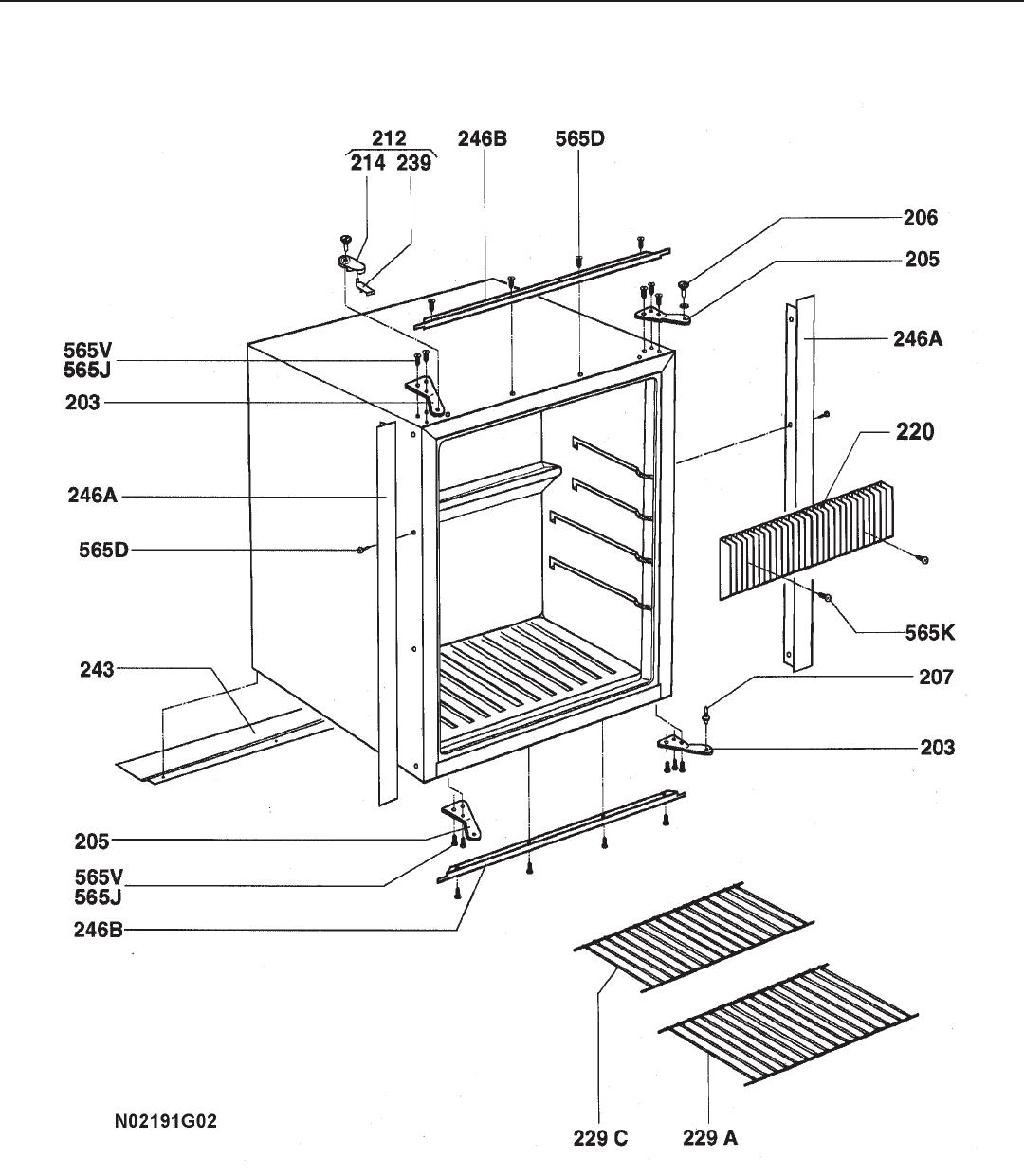 9 16 04 Rm Refrigerator Parts List