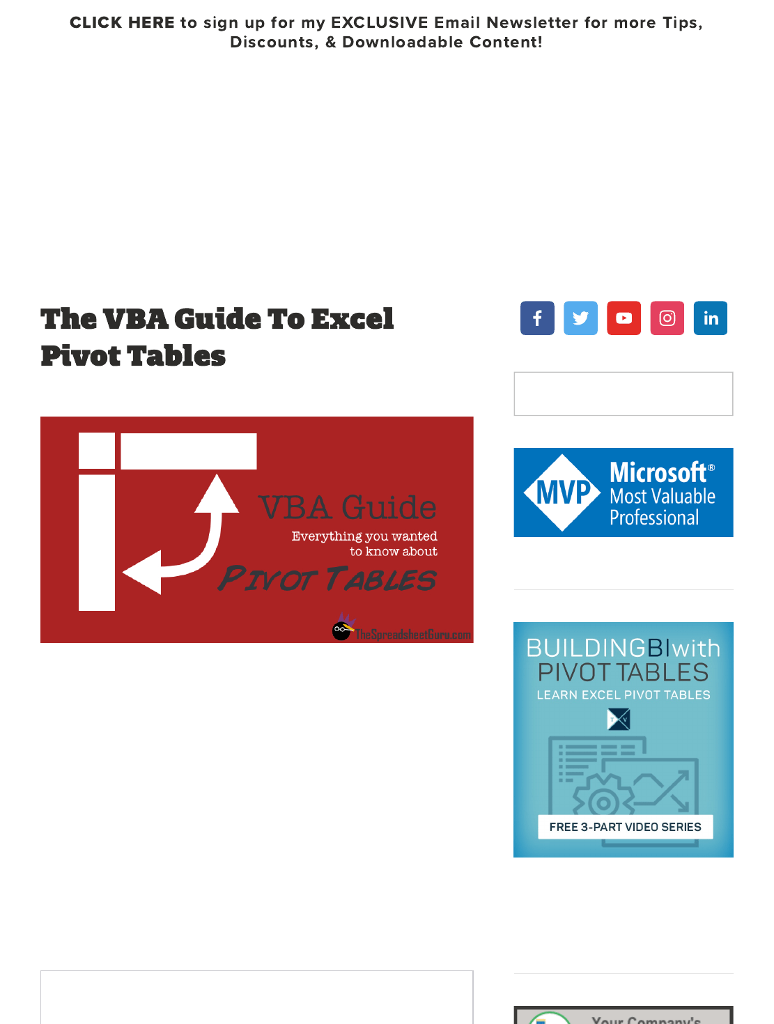 How To Create Pivot Table In Excel Using Vba
