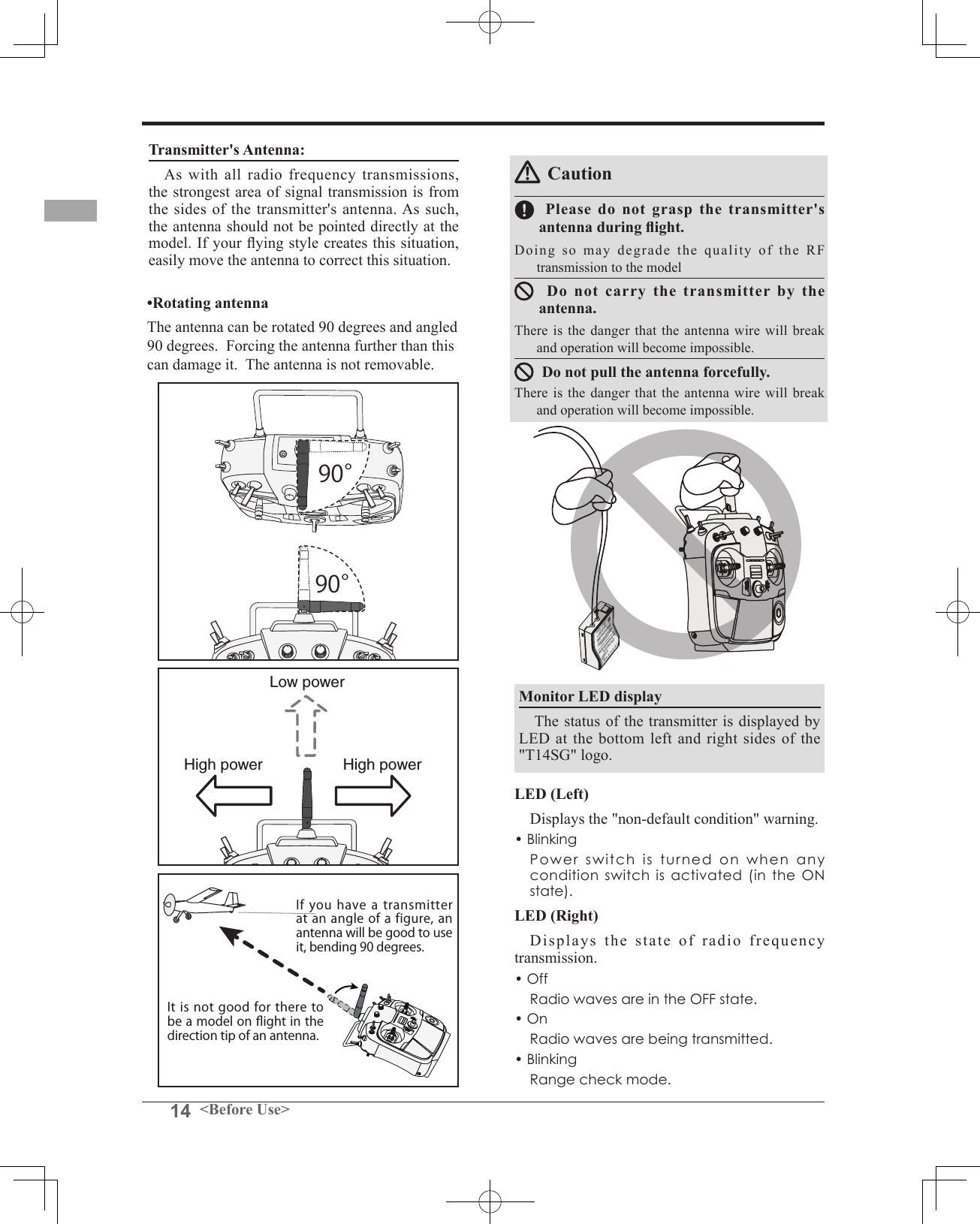 Futaba T14sg 24g Radio Control User Manual 1