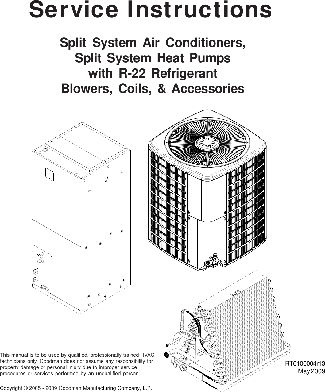 Goodman Mfg Rt R13 Users Manual