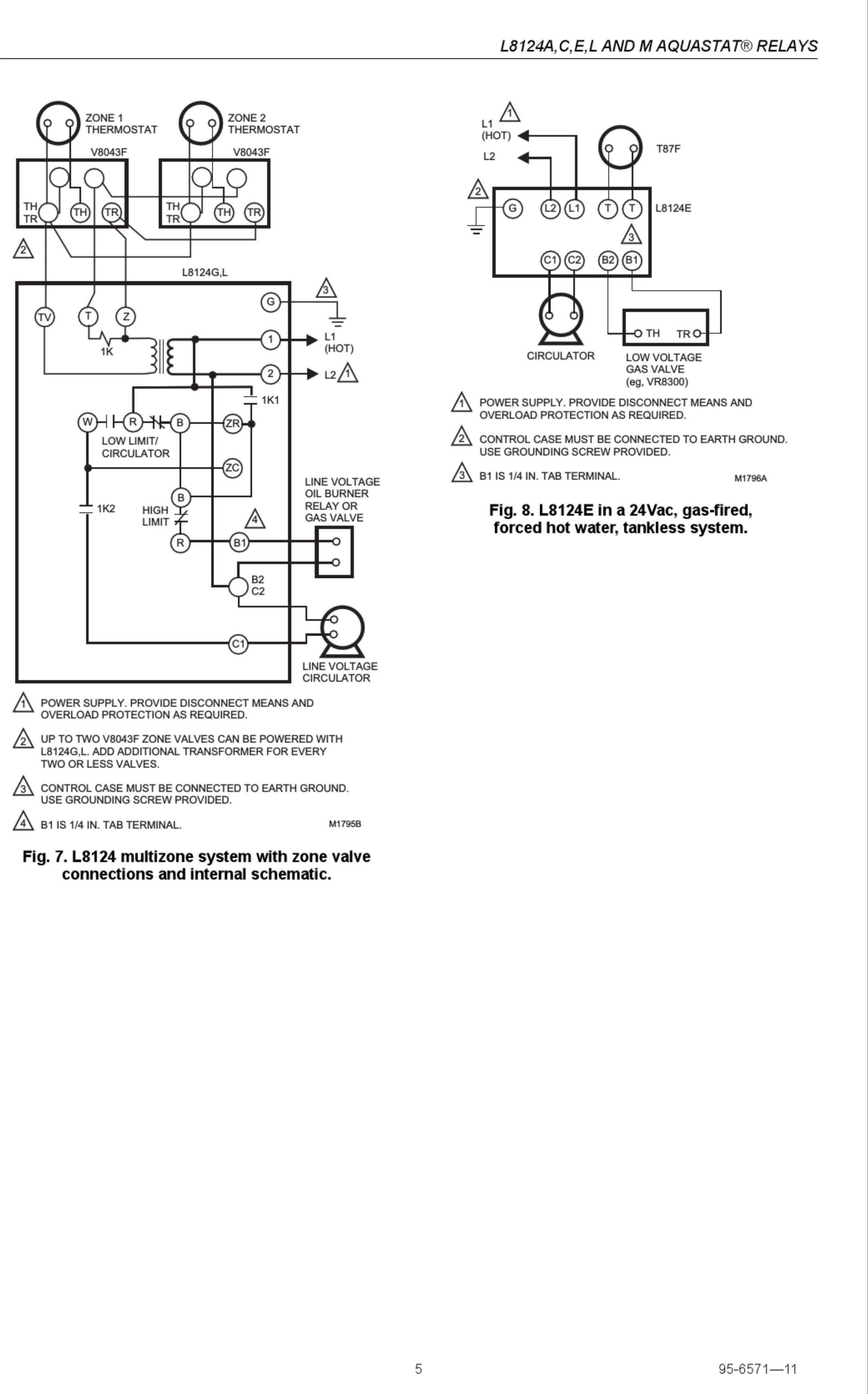 Honeywell Aquastat L A Installation Instructions Manual