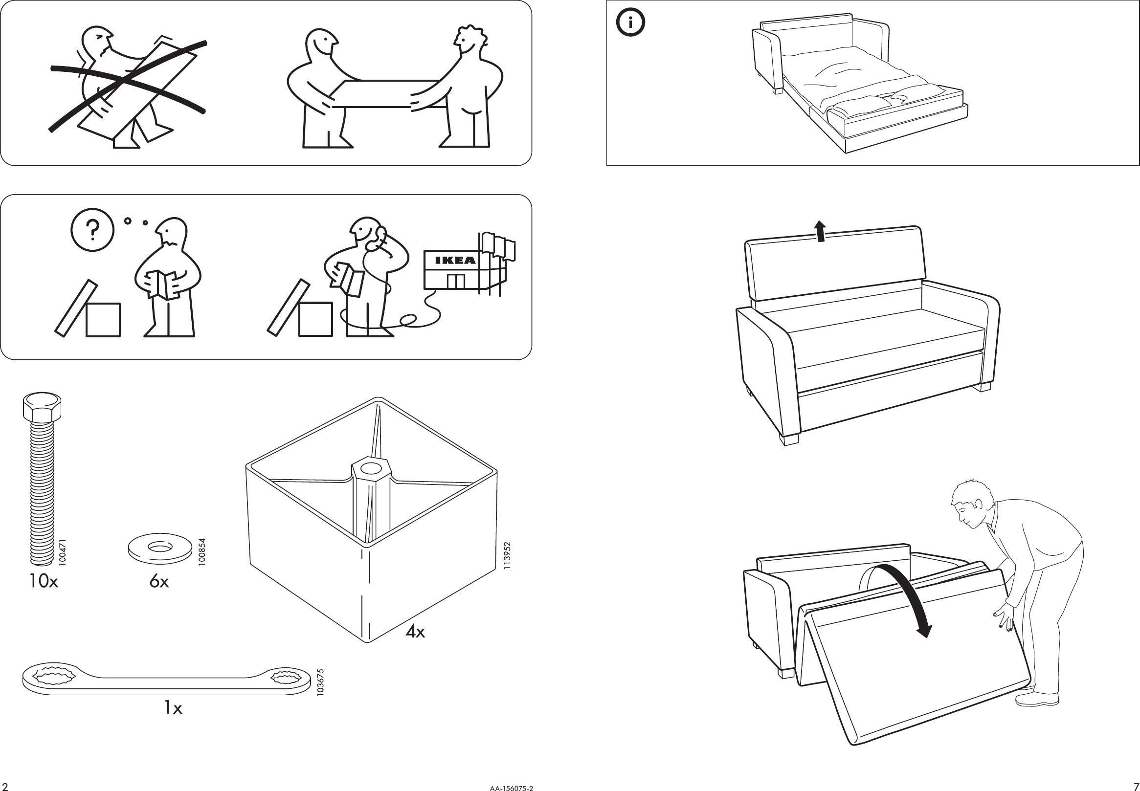 Ikea Solsta Sofa Bed Assembly Instruction