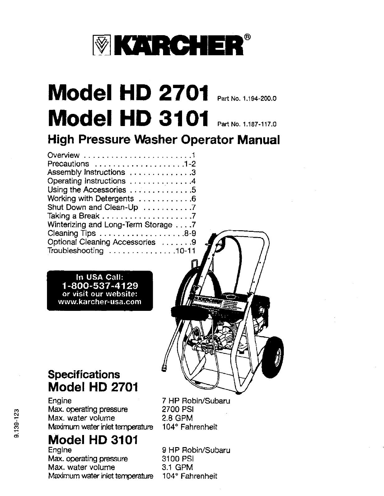 Karcher Pressure Washer Wiring Diagram