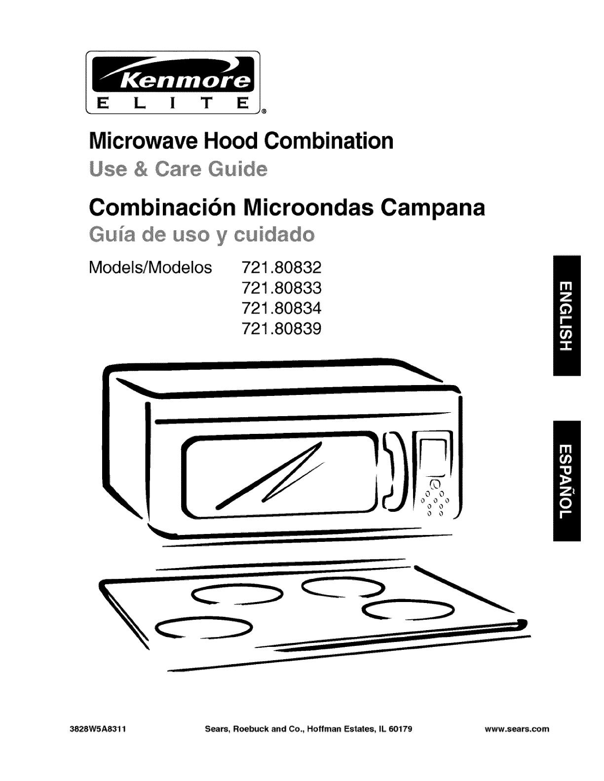 manual microwave range hood manuals