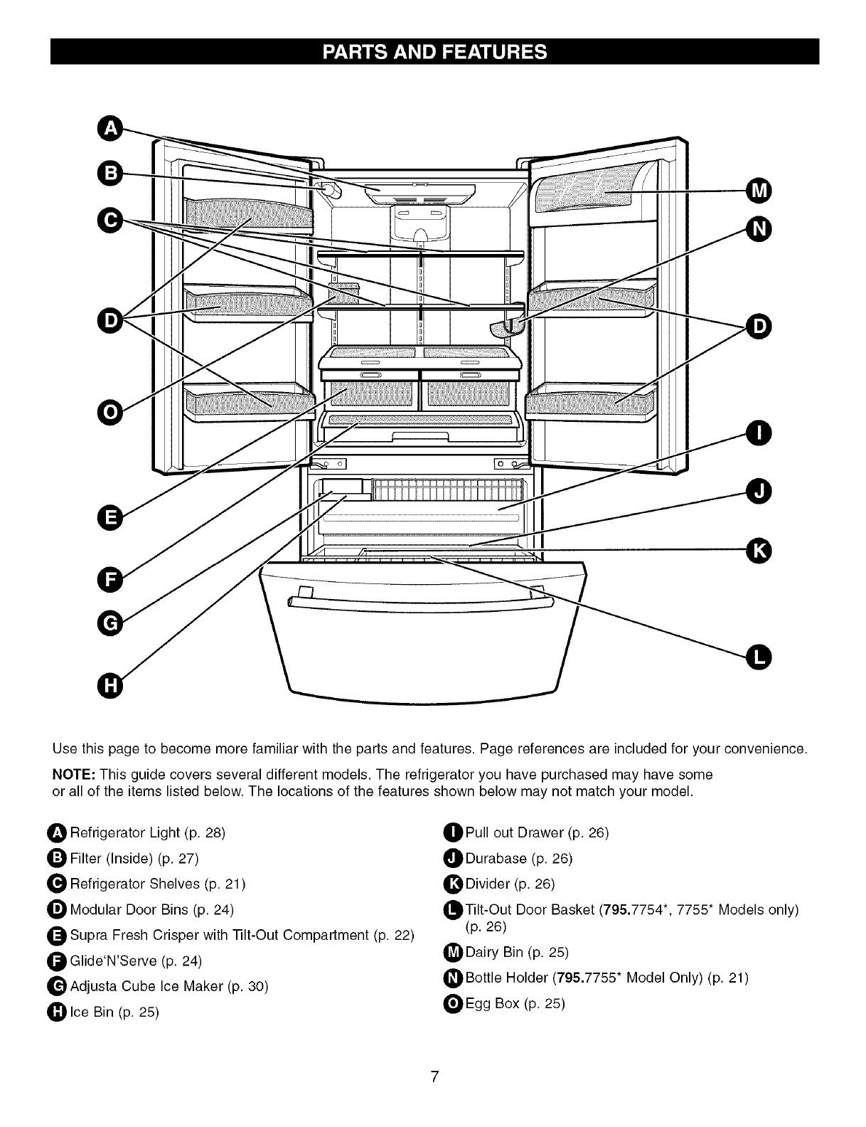 Kenmore Elite User Manual Refrigerator Manuals