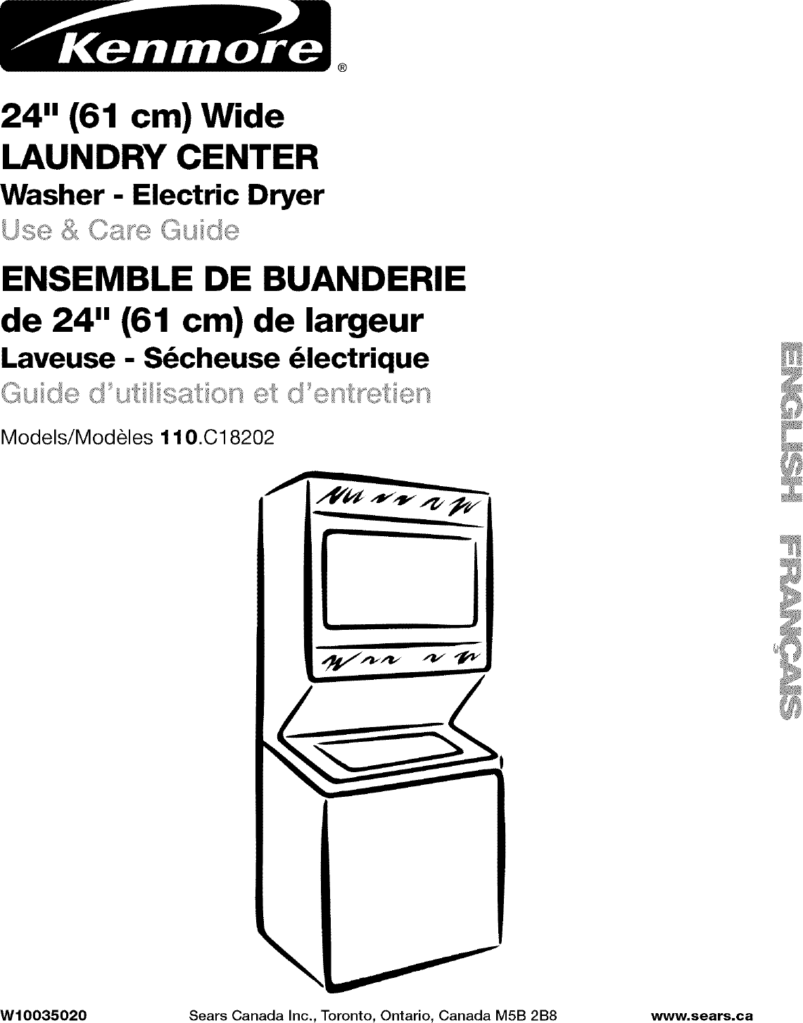 Kenmore User Manual Laundry Center Manuals And