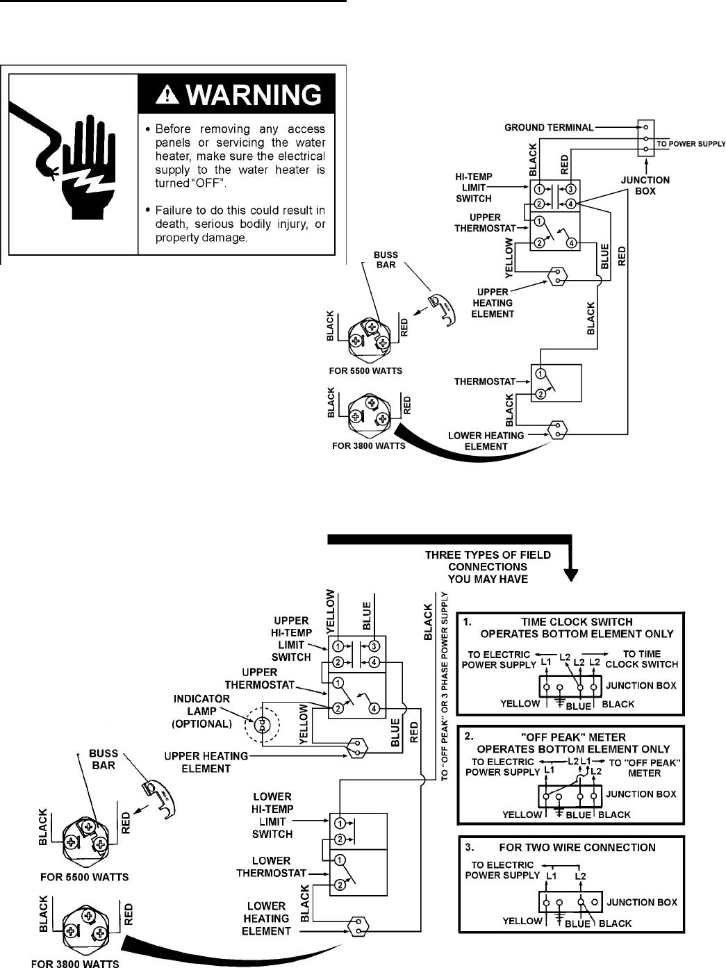 Off Peak Hot Water Wiring Diagram