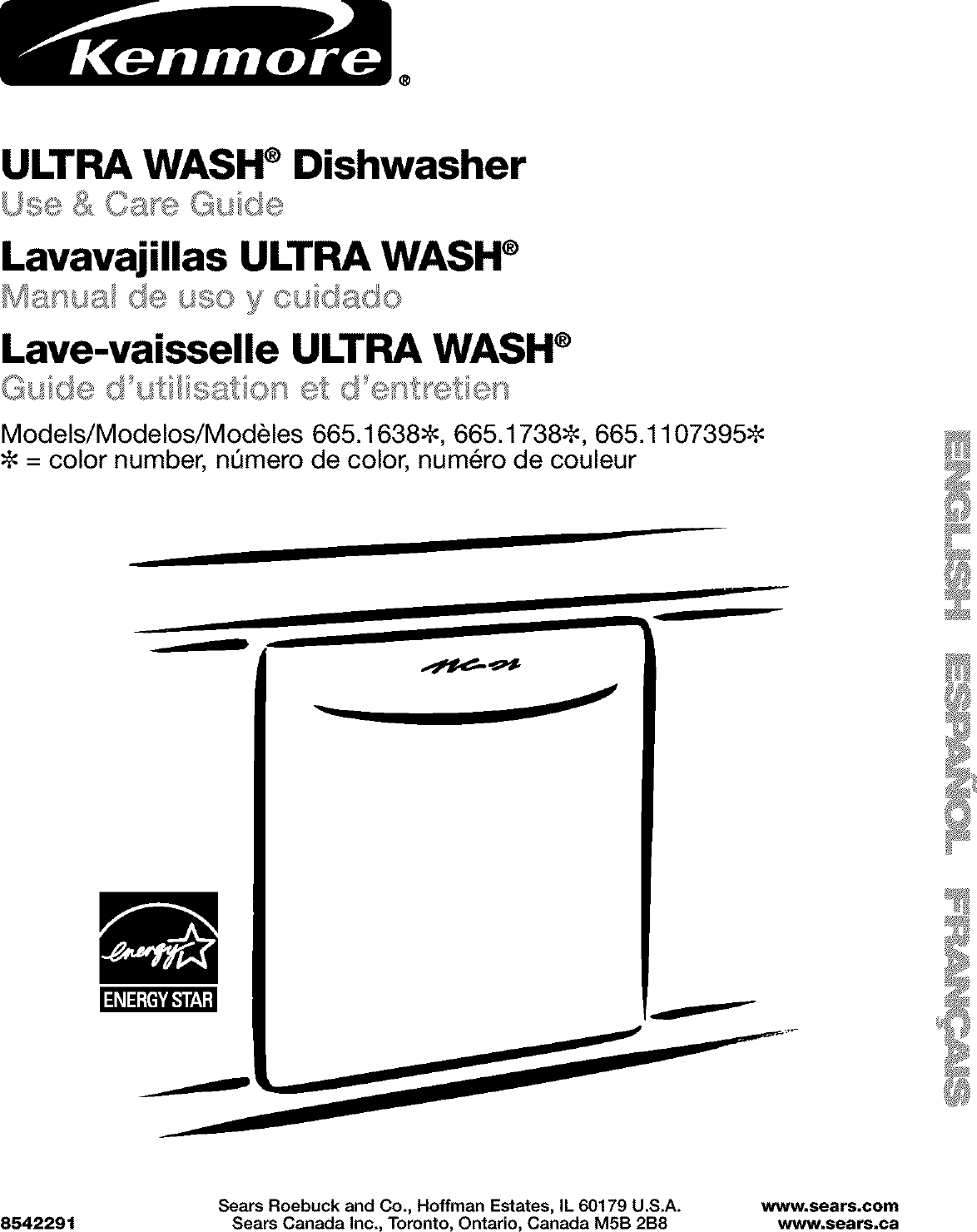 Kenmore User Manual Undercounter Dishwasher