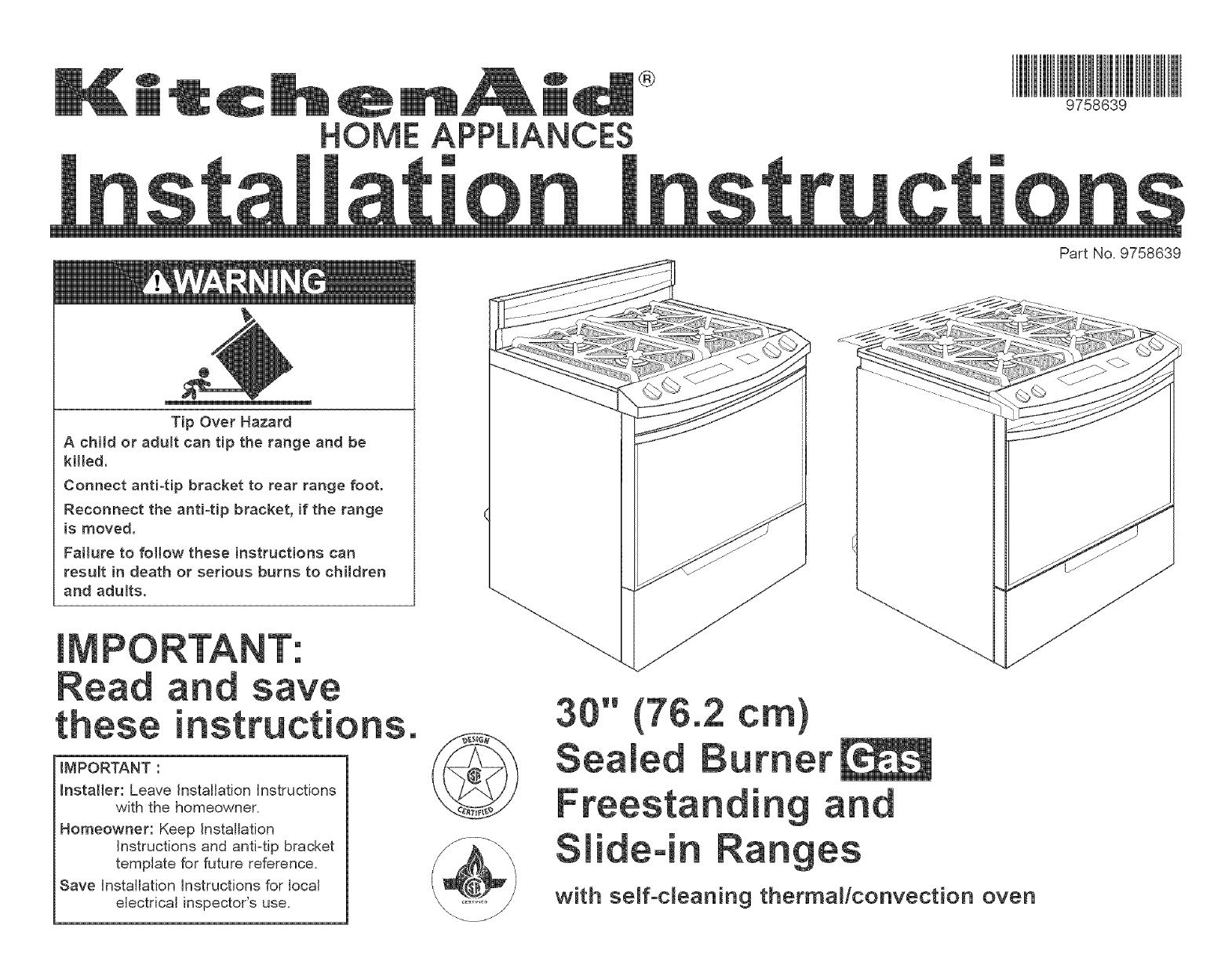 manual free standing gas range manuals