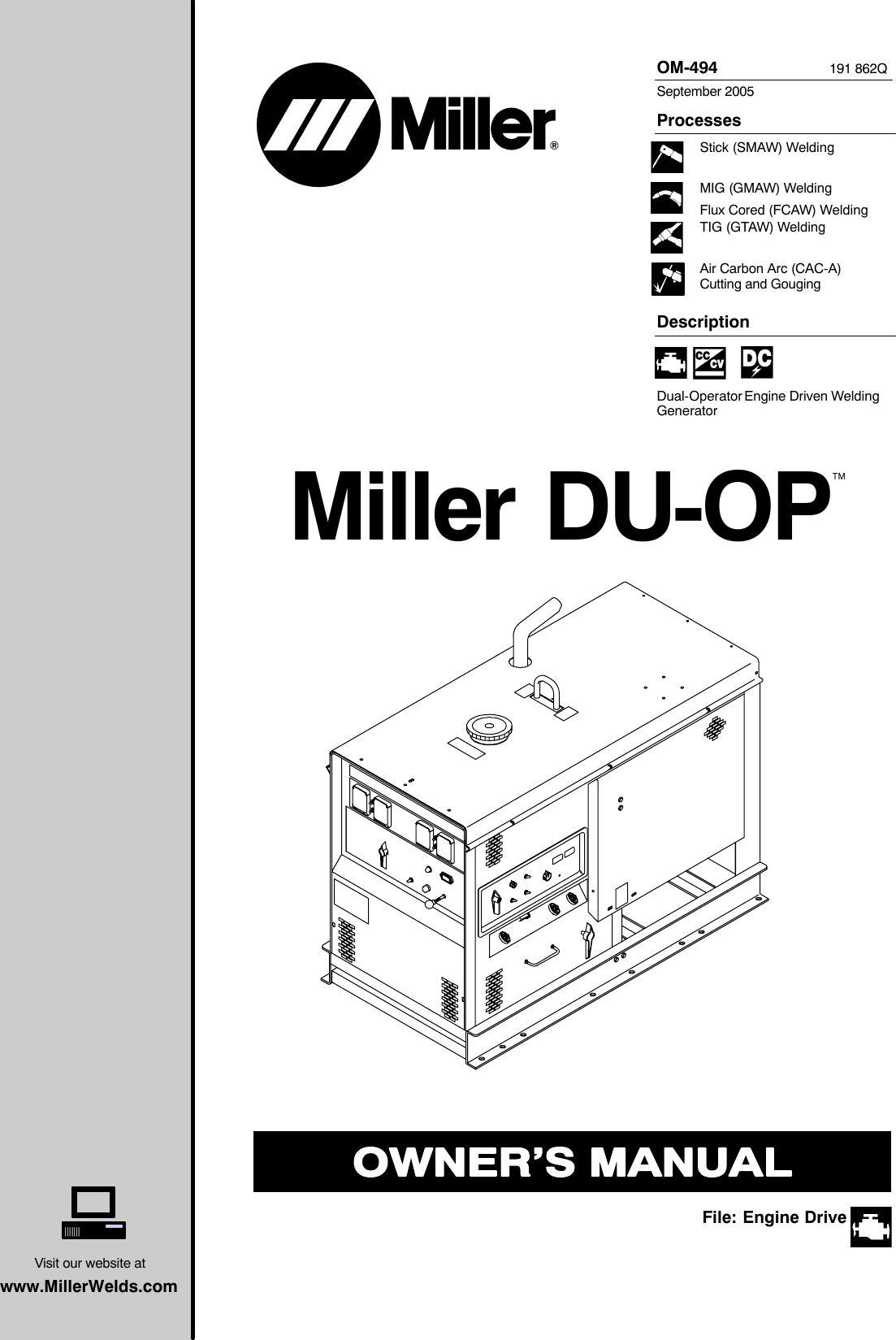 Miller Electric Du Op Users Manual O494q Mil Eco